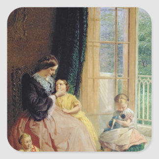 Mrs. Hicks, Mary, Rosa and Elgar Square Stickers