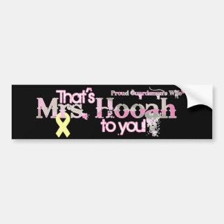 Mrs.Hooah Pick-Up Car Bumper Sticker