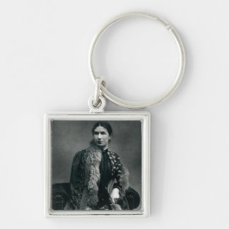 Mrs Humphry Ward, 1881 Silver-Colored Square Keychain