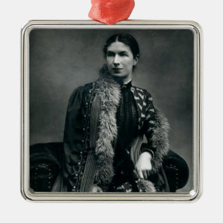 Mrs Humphry Ward, 1881 Square Metal Christmas Ornament