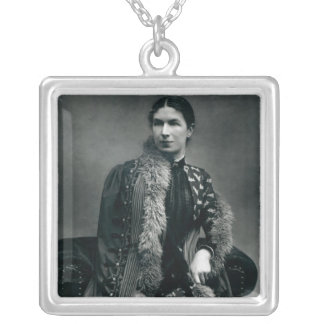 Mrs Humphry Ward, 1881 Square Pendant Necklace