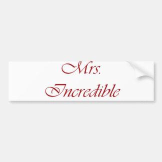Mrs. Incredible Bumper Sticker