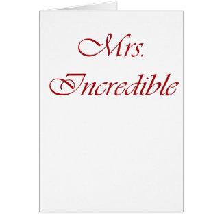 Mrs. Incredible Card