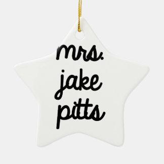 Mrs. Jake Pitts Ceramic Ornament