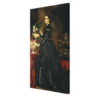 Mrs James Guthrie, c.1864-5 (oil on canvas) Stretched Canvas Print
