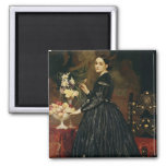 Mrs James Guthrie, c.1864-5 (oil on canvas) 2 Inch Square Magnet