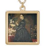 Mrs James Guthrie, c.1864-5 (oil on canvas) Square Pendant Necklace