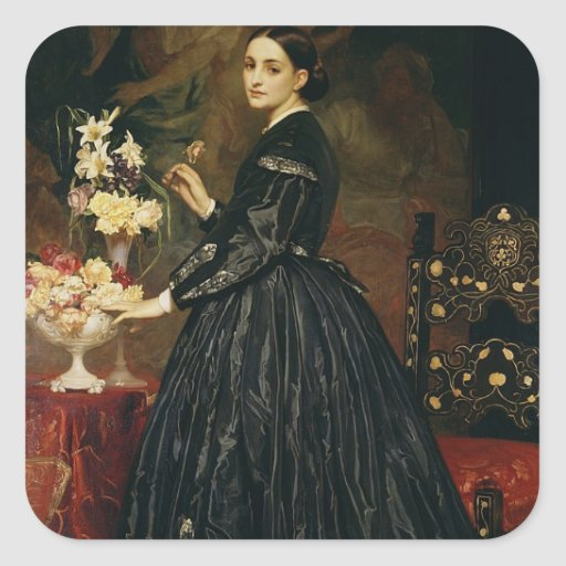 Mrs James Guthrie, c.1864-5 (oil on canvas) Square Sticker