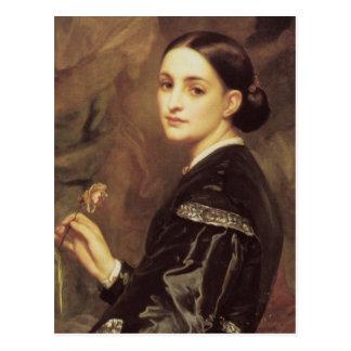 Mrs James Guthrie in detail Frederick Leighton Postcard