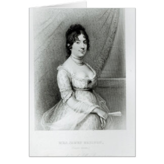 Mrs James Madison, Dolley Payne , c.1804-55 Card
