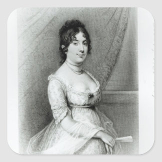 Mrs James Madison, Dolley Payne , c.1804-55 Square Sticker