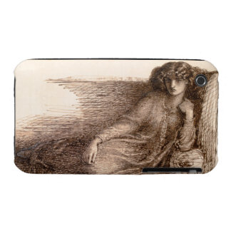 Mrs. Jane Morris Reclining on a Sofa iPhone 3 Cover