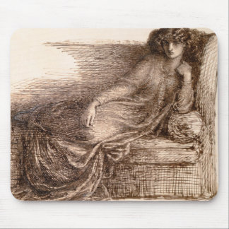 Mrs. Jane Morris Reclining on a Sofa Mouse Pad