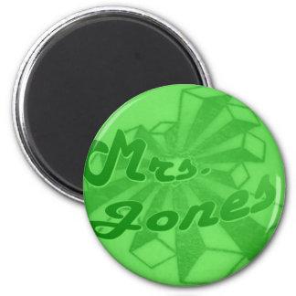 Mrs. Jones-Star Logo-Green Envy Magnet