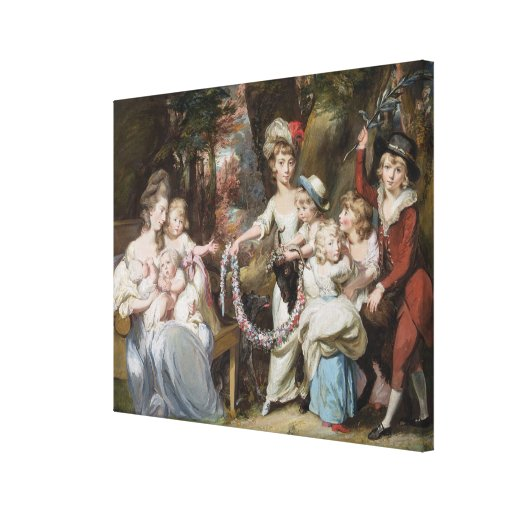 Mrs Justinian Casamajor and Eight of her Children, Stretched Canvas Print