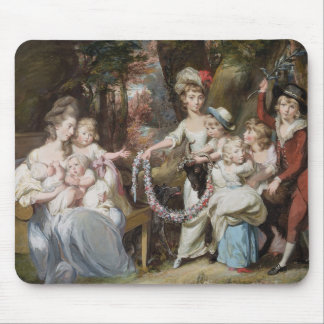 Mrs Justinian Casamajor and Eight of her Children, Mouse Pad