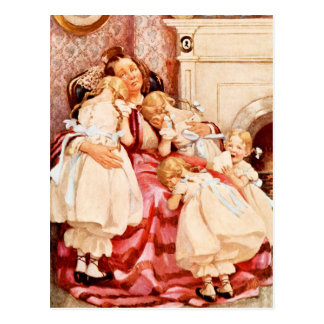 Mrs. Kenwigs and the four little Kenwigses Postcard
