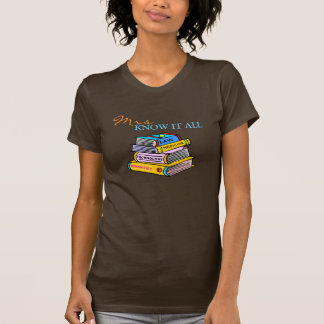 Mrs Know It All Education College Major T-Shirt