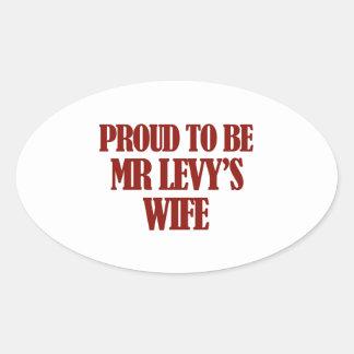 Mrs Levy designs Oval Sticker