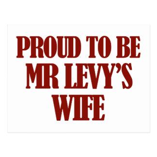 Mrs Levy designs Postcard