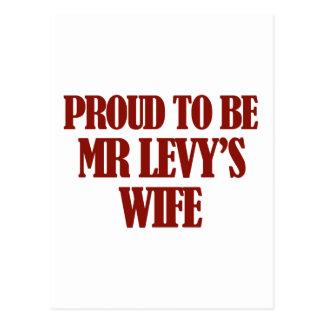 Mrs Levy designs Postcards