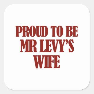 Mrs Levy designs Square Sticker