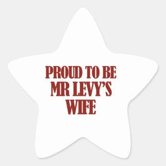 Mrs Levy designs Star Sticker