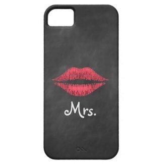 Mrs. Lips on Chalkboard iPhone 5 Case-Mate ID