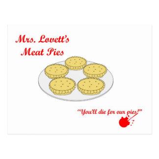 Mrs Lovetts Meat Pies Postcard