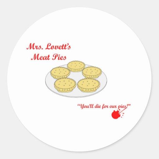 Mrs Lovetts Pie Shop Classic Round Sticker