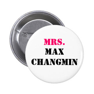 MRS., MAX CHANGMIN PINBACK BUTTONS
