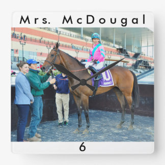 Mrs. McDougal & Jose Ortiz Square Wall Clock