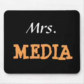 Mrs Media Female Journalist Editor Funny Nickname Mouse Pad