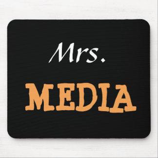 Mrs Media Female Journalist Editor Funny Nickname Mouse Pad