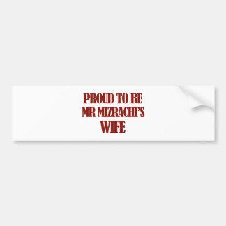 Mrs Mizrachi designs Car Bumper Sticker