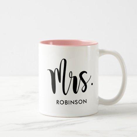 Mrs. Monogram | Married Two-Tone Coffee Mug