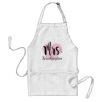 Mrs. Monogram | Pink Heart Adult Apron