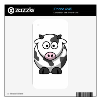 Mrs Moo Decal For iPhone 4