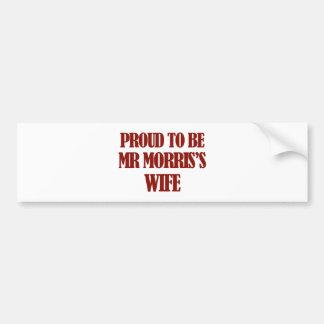 Mrs Morris designs Car Bumper Sticker