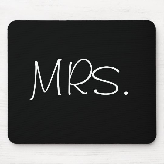 """""""MRS."""" mouse pad"""