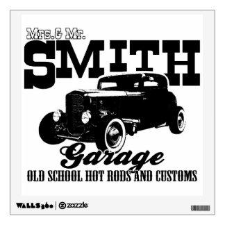 Mrs.& Mr. Smith Hot-Rod Garage design Wall Sticker