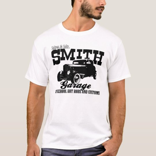 Mrs.& Mr. Smith Hot-Rod Garage T-Shirt