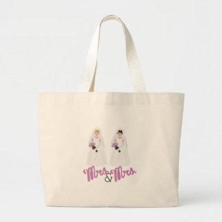 Mrs.& Mrs. Jumbo Tote Bag
