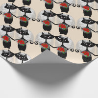 Mrs   Mrs Lesbian Marriage Cat Cute Brides Wedding Wrapping Paper