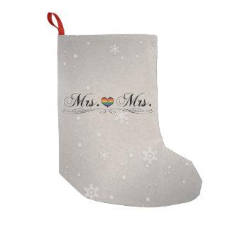 Mrs. & Mrs. Lesbian Pride Small Christmas Stocking