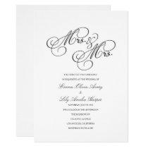 Mrs. & Mrs. | Lesbian Wedding Invite