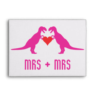 Mrs+Mrs - Love is Love Dinosaurs Envelope
