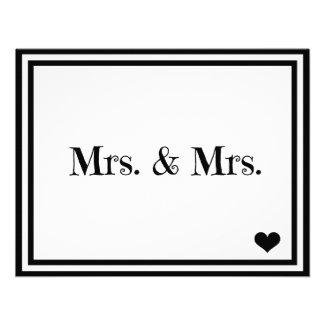 Mrs. & Mrs. Personalized Invitations