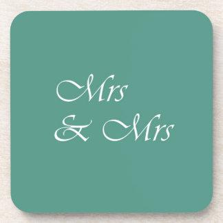 Mrs & Mrs Typography Drink Coaster