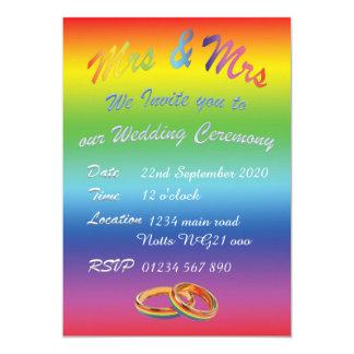 Mrs&Mrs Wedding Ceremony invitation lesbian lbgt
